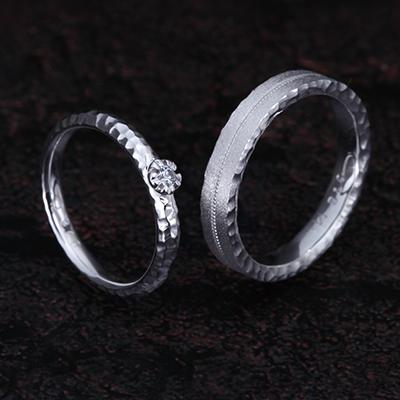 SAKURA 結婚指輪 個性派 ストレート プラチナ