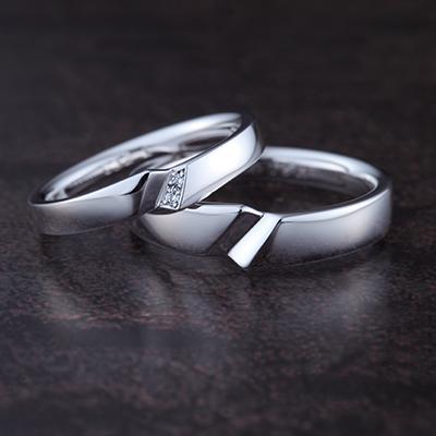 SHIRAKASHI-シラカシ- 結婚指輪 セットリング 個性派 ストレート プラチナ