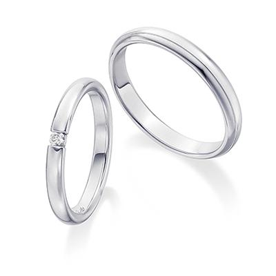シンプルダイヤ Pt  結婚指輪 シンプル ストレート プラチナ