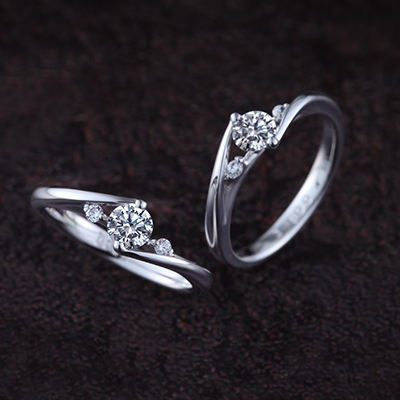 FREESIA 婚約指輪 キュート ストレート プラチナ