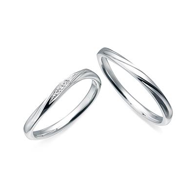 CN-092/CN-093 結婚指輪 エレガント S字(ウェーブ) プラチナ
