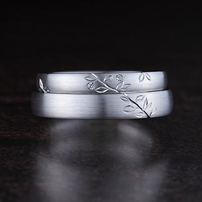 GUMI 結婚指輪 個性派 ストレート 幅広 プラチナ