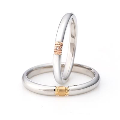 La Scala -スカラ- 結婚指輪 キュート ストレート コンビ