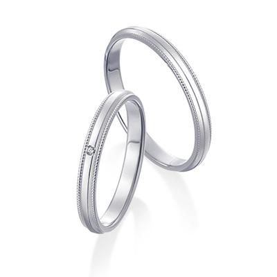 ミルグレイン Pt 結婚指輪 キュート ストレート プラチナ