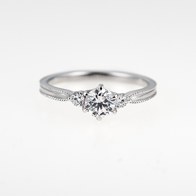 Ribon-リボン- 婚約指輪 キュート ストレート プラチナ