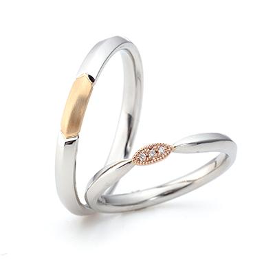 Cantata -カンタータ- 結婚指輪 エレガント ストレート コンビ
