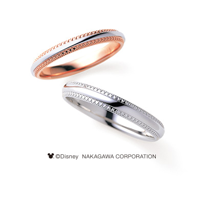 RINGS 結婚指輪 シンプル アンティーク 個性派 ストレート プラチナ ピンクゴールド コンビ