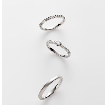 fleurir-フルリール- 婚約指輪 結婚指輪 セットリング キュート エタニティ パラジウム