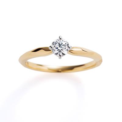 cygnet 婚約指輪 キュート ストレート イエローゴールド