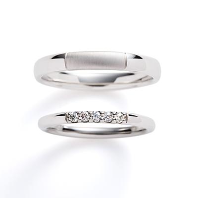 luccica 婚約指輪 結婚指輪 エレガント ストレート プラチナ