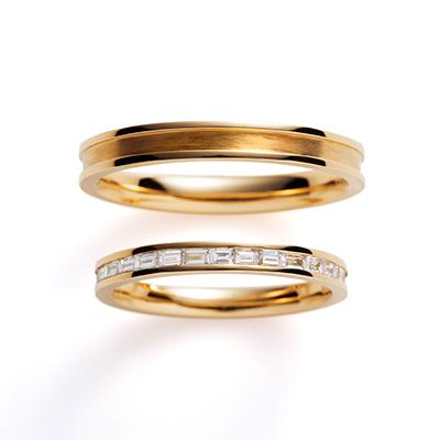 cesto 結婚指輪 シンプル アンティーク エタニティ イエローゴールド