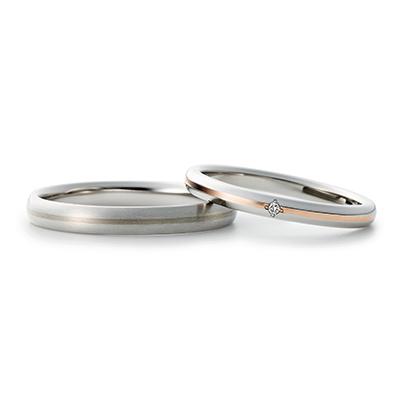 YUI 結婚指輪 シンプル キュート ストレート プラチナ コンビ