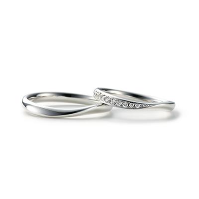 AYA 結婚指輪 エレガント S字(ウェーブ) プラチナ