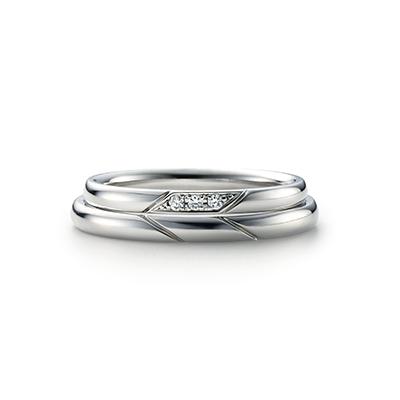 ISSHIN 結婚指輪 シンプル 個性派 ストレート プラチナ