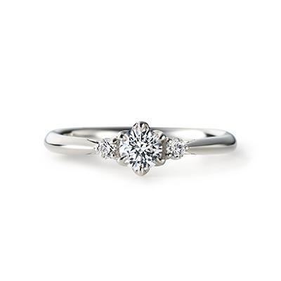SAKI 婚約指輪 エレガント ストレート プラチナ