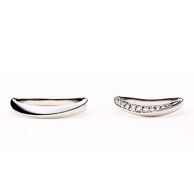 palmier 結婚指輪 エレガント V字(ウェーブ) エタニティ プラチナ