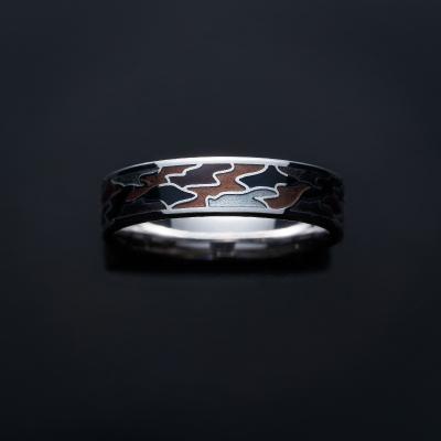 雄-YOU- 結婚指輪 個性派 ストレート 幅広 ホワイトゴールド