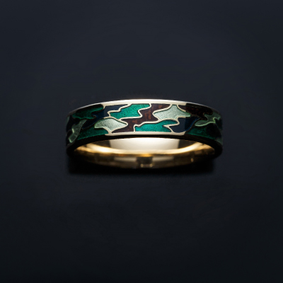 樹-ITSUKI- 結婚指輪 個性派 ストレート 幅広 イエローゴールド