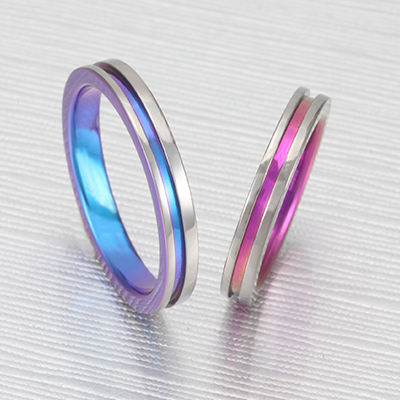 No,2 結婚指輪 個性派 ストレート