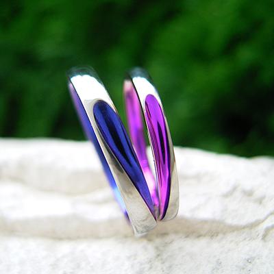 ハート 結婚指輪 キュート 個性派 ストレート