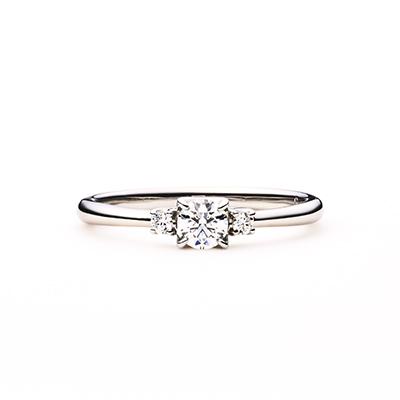 profiterole 婚約指輪 エレガント ストレート プラチナ