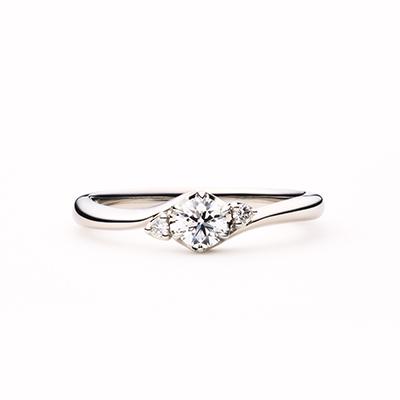 cygne 婚約指輪 エレガント S字(ウェーブ) プラチナ