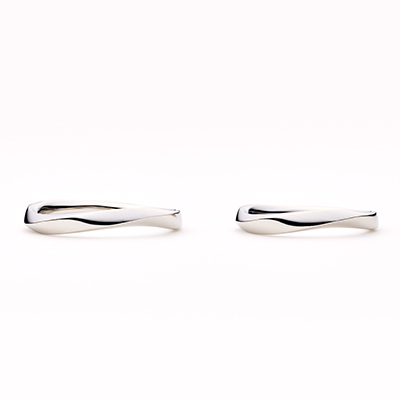 éclairⅠ 結婚指輪 シンプル エレガント S字(ウェーブ) プラチナ