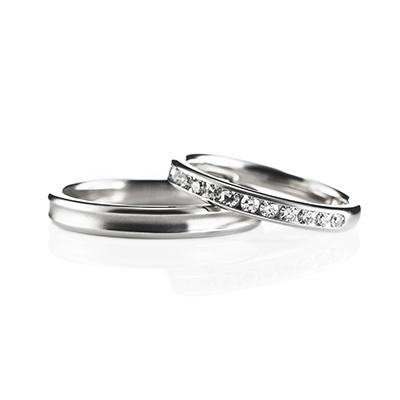Link 結婚指輪 シンプル エレガント ストレート エタニティ プラチナ