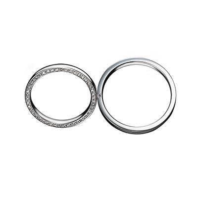 Dear 結婚指輪 エレガント ストレート エタニティ プラチナ