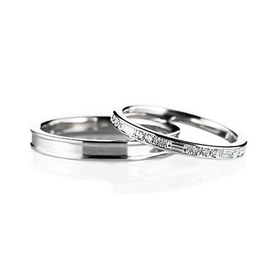 Warmth 結婚指輪 エレガント ストレート エタニティ プラチナ