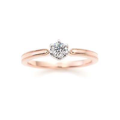 ACOUSTIC LOVE 婚約指輪 キュート ストレート ホワイトゴールド