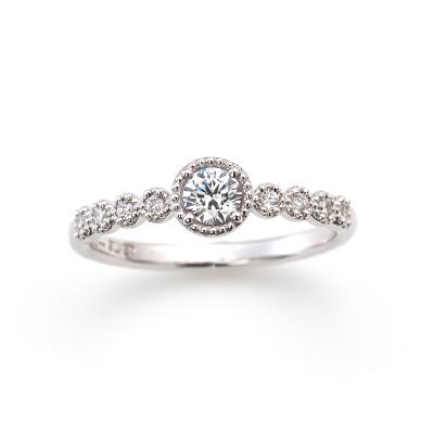 SWEET ROSE 婚約指輪 キュート ストレート プラチナ