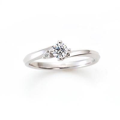 LILY DEW 婚約指輪 エレガント S字(ウェーブ) プラチナ