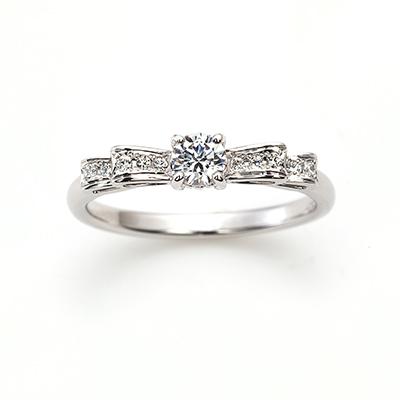 FANTASIA 婚約指輪 キュート ストレート プラチナ