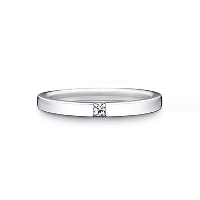Hope 婚約指輪 結婚指輪 エレガント ストレート プラチナ
