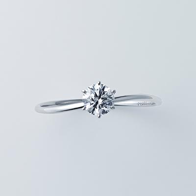 婚約指輪 シンプル S字(ウェーブ) プラチナ
