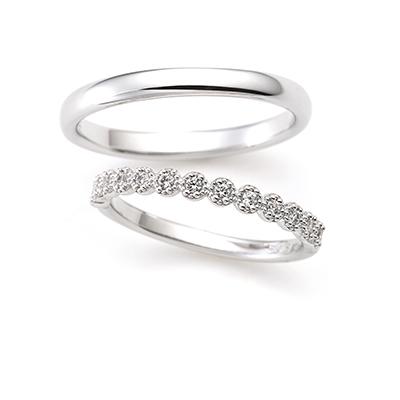 SWEET ROSE 結婚指輪 アンティーク ストレート プラチナ