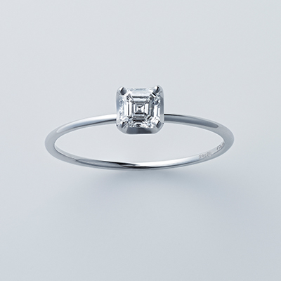 婚約指輪 シンプル ストレート プラチナ