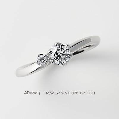 moon&desert 婚約指輪 シンプル キュート S字(ウェーブ) プラチナ