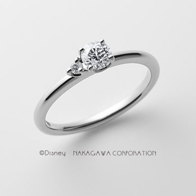 seven dwarfs 婚約指輪 シンプル キュート ストレート プラチナ
