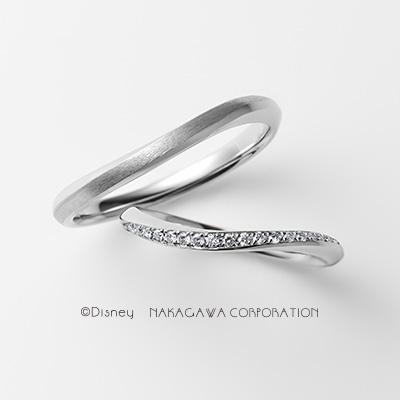 waltz 結婚指輪 シンプル エレガント キュート S字(ウェーブ) プラチナ