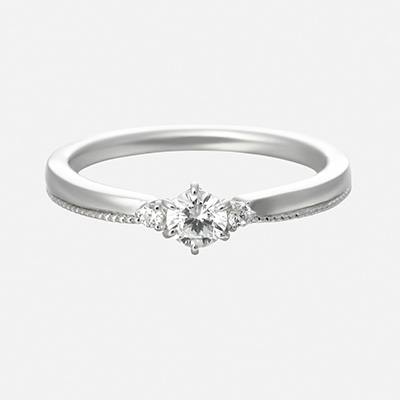 porte bonheur 婚約指輪 エレガント キュート 個性派 ストレート プラチナ