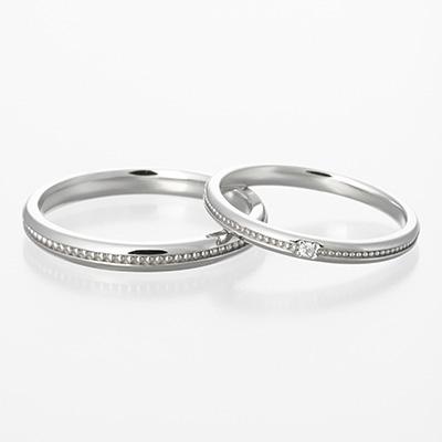 alliance 結婚指輪 シンプル アンティーク ストレート プラチナ