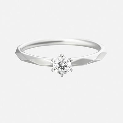 luz 婚約指輪 シンプル アンティーク 個性派 ストレート プラチナ