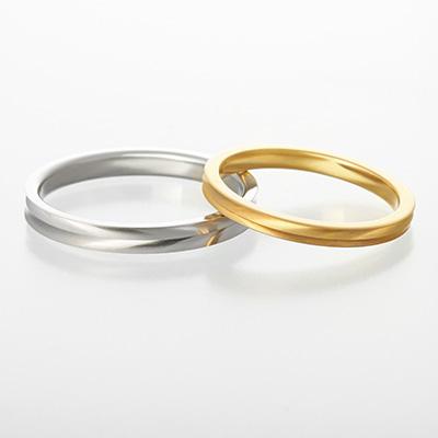 accord 結婚指輪 シンプル 個性派 ストレート プラチナ イエローゴールド