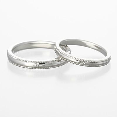grand merci 結婚指輪 シンプル アンティーク ストレート プラチナ