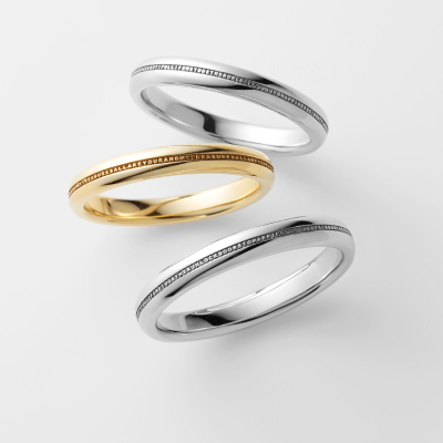 CUENTO 結婚指輪 シンプル 個性派 ストレート プラチナ