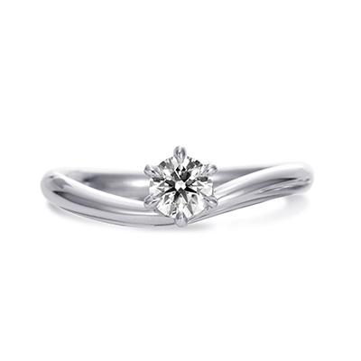 Baciamano 婚約指輪 シンプル エレガント S字(ウェーブ) プラチナ