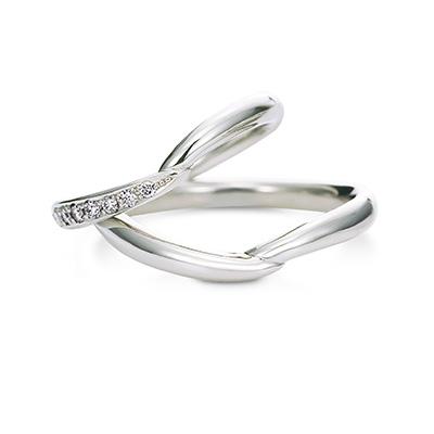 Baciamano 結婚指輪 シンプル エレガント S字(ウェーブ) プラチナ
