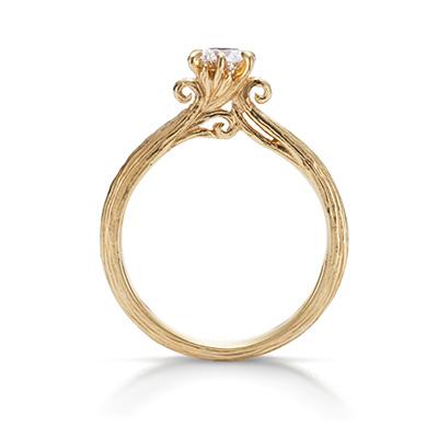 Novello 婚約指輪 アンティーク 個性派 ストレート イエローゴールド